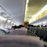 飛行機の機内